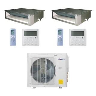 Gree MULTI30CDUCT207 - 30,000 BTU Multi21+ Dual-Zone Concealed Duct Mini Split A/C Heat Pump 208-230V (18-18) - A/C & Heater
