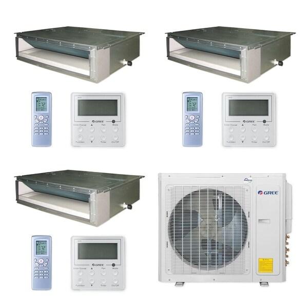 Gree MULTI30CDUCT304 - 30,000 BTU Multi21+ Tri-Zone Concealed Duct Mini Split A/C Heat Pump 208-230V (9-12-12) - A/C & Heater