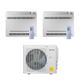 Gree MULTI30CCONS201 - 30,000 BTU Multi21+ Dual-Zone Floor Console Mini Split A/C Heat Pump 208-230V (9-12) - A/C & Heater