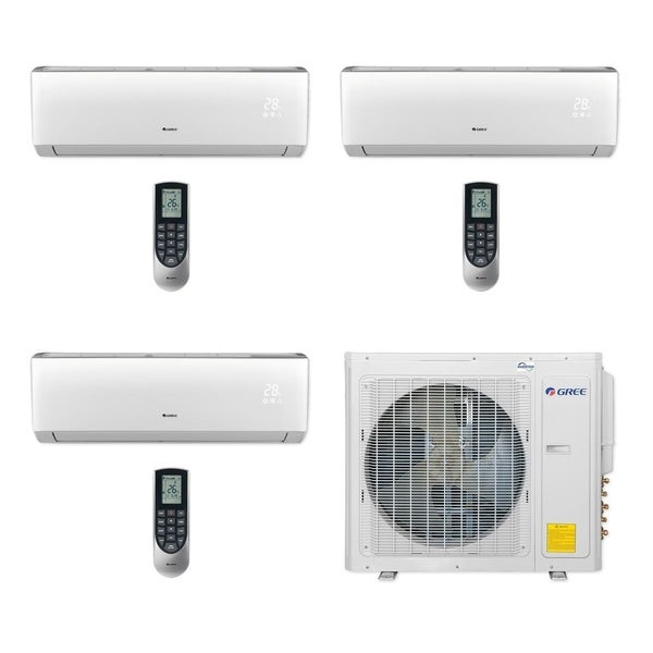 Gree MULTI30CVIR306 - 30,000 BTU Multi21+ Tri-Zone Wall Mount Mini Split A/C Heat Pump 208-230V (12-12-12) - A/C & Heater
