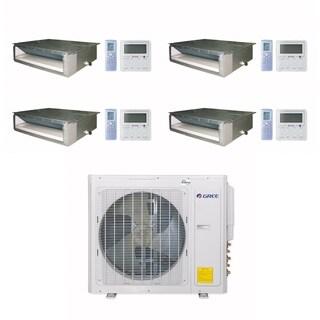 Gree MULTI30CDUCT400 - 30,000 BTU Multi21+ Quad-Zone Concealed Duct Mini Split A/C Heat Pump 208-230V (9-9-9-9) - A/C & Heater