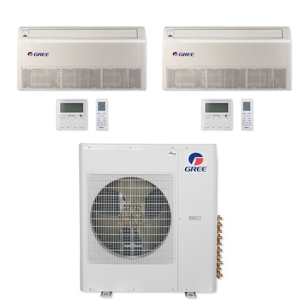 Gree MULTI36CFLR205 - 36,000 BTU Multi21+ Dual-Zone Floor/Ceiling Mini Split A/C Heat Pump 208-230V (12-18) - A/C & Heater