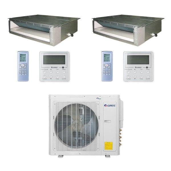 Gree MULTI30CDUCT200 - 30,000 BTU Multi21+ Dual-Zone Concealed Duct Mini Split A/C Heat Pump 208-230V (9-9) - A/C & Heater