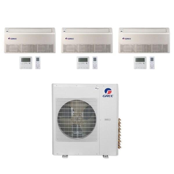 Gree MULTI36CFLR311 - 36,000 BTU Multi21+ Tri-Zone Floor/Ceiling Mini Split A/C Heat Pump 208-230V (12-18-18) - A/C & Heater