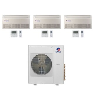 Gree MULTI36CFLR311 - 36,000 BTU Multi21+ Tri-Zone Floor/Ceiling Mini Split A/C Heat Pump 208-230V (12-18-18) - A/C & Heater