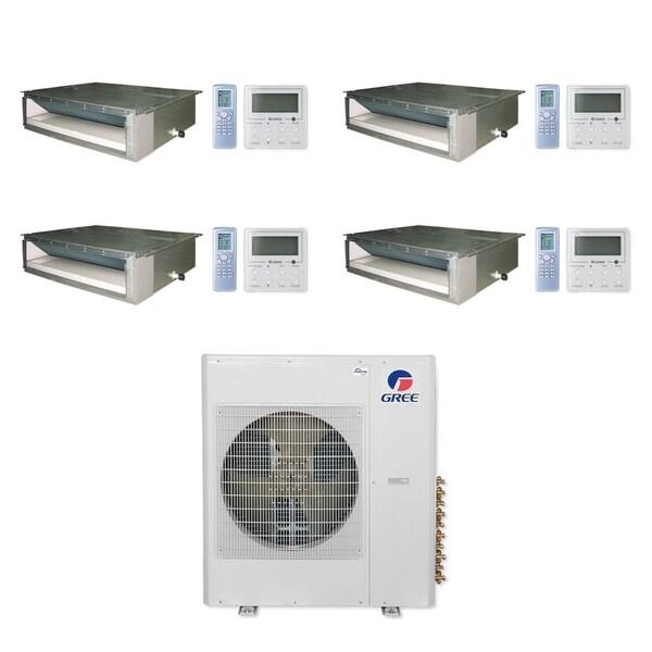 Gree MULTI36CDUCT400 - 36,000 BTU Multi21+ Quad-Zone Concealed Duct Mini Split A/C Heat Pump 208-230V (9-9-9-9) - A/C & Heater