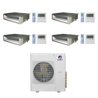 Gree MULTI36CDUCT400 - 36,000 BTU Multi21+ Quad-Zone Concealed Duct Mini Split A/C Heat Pump 208-230V (9-9-9-9) - A/C & Heater