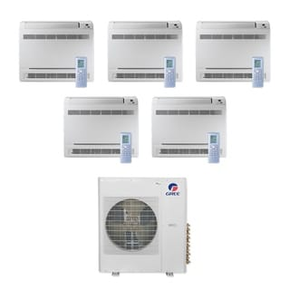 Gree MULTI36CCONS500 -36,000 BTU Multi21+ Penta-Zone Floor Console Mini Split A/C Heat Pump 208-230V (9-9-9-9-9) - A/C & Heater