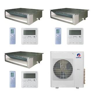 Gree MULTI36CDUCT301 - 36,000 BTU Multi21+ Tri-Zone Concealed Duct Mini Split A/C Heat Pump 208-230V (9-9-12) - A/C & Heater