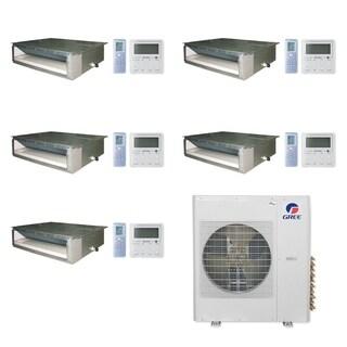 Gree MULTI36CDUCT500 -36,000 BTU Multi21+ Penta-Zone Concealed Duct Mini Split A/C Heat Pump 208-230V (9-9-9-9-9) - A/C & Heater