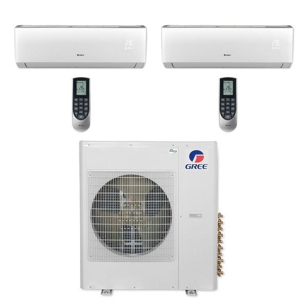 Gree MULTI36CLIV207 - 36,000 BTU Multi21+ Dual-Zone Wall Mount Mini Split A/C Heat Pump 208-230V (18-18) (A/C & Heater)