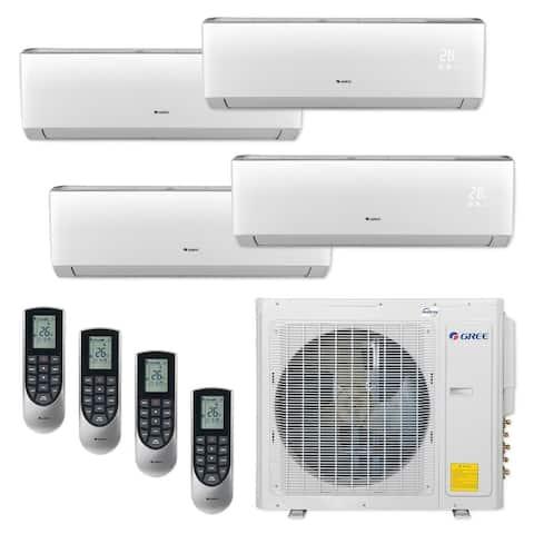 Gree MULTI30CVIR401 - 30,000 BTU Multi21+ Quad-Zone Wall Mount Mini Split A/C Heat Pump 208-230V (9-9-9-12) - A/C & Heater
