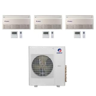 Gree MULTI36CFLR301 - 36,000 BTU Multi21+ Tri-Zone Floor/Ceiling Mini Split A/C Heat Pump 208-230V (9-9-12) - A/C & Heater