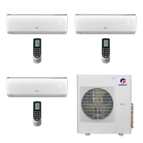 Gree MULTI36CLIV301 - 36,000 BTU Multi21+ Tri-Zone Wall Mount Mini Split A/C Heat Pump 208-230V (9-9-12) (A/C & Heater)