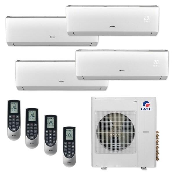 Gree MULTI36CLIV405 - 36,000 BTU Multi21+ Quad-Zone Wall Mount Mini Split A/C Heat Pump 208-230V (9-12-12-12) - A/C & Heater