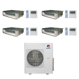 Gree MULTI36CDUCT401 - 36,000 BTU Multi21+ Quad-Zone Concealed Duct Mini Split A/C Heat Pump 208-230V (9-9-9-12) - A/C & Heater