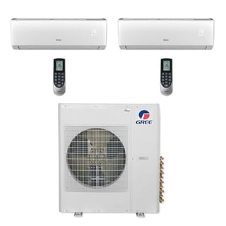 Gree MULTI36CVIR204 - 36,000 BTU Multi21+ Dual-Zone Wall Mount Mini Split A/C Heat Pump 208-230V (12-12) (A/C & Heater)