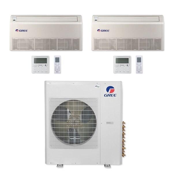 Gree MULTI36CFLR207 - 36,000 BTU Multi21+ Dual-Zone Floor/Ceiling Mini Split A/C Heat Pump 208-230V (18-18) - A/C & Heater