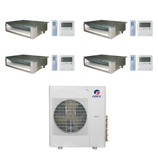 Gree MULTI36CDUCT402 - 36,000 BTU Multi21+ Quad-Zone Concealed Duct Mini Split A/C Heat Pump 208-230V (9-9-9-18) - A/C & Heater