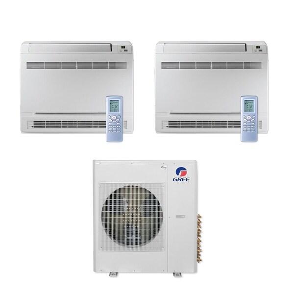 Gree MULTI42CCONS205 - 42,000 BTU Multi21+ Dual-Zone Floor Console Mini Split A/C Heat Pump 208-230V (12-18) - A/C & Heater