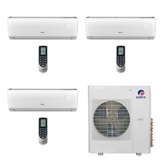Gree MULTI36CVIR301 - 36,000 BTU Multi21+ Tri-Zone Wall Mount Mini Split A/C Heat Pump 208-230V (9-9-12) (A/C & Heater)