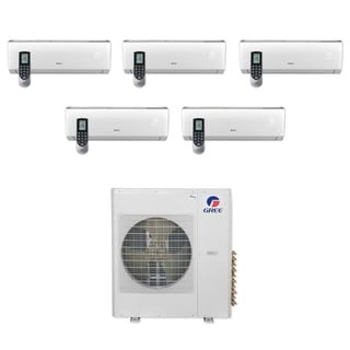 Gree MULTI36CLIV500 - 36,000 BTU Multi21+ Penta-Zone Wall Mount Mini Split A/C Heat Pump 208-230V (9-9-9-9-9) - A/C & Heater