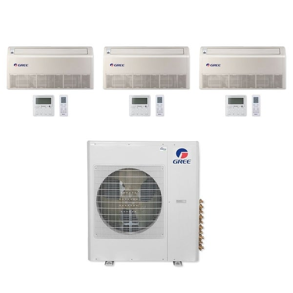 Gree MULTI36CFLR310 - 36,000 BTU Multi21+ Tri-Zone Floor/Ceiling Mini Split A/C Heat Pump 208-230V (12-12-24) - A/C & Heater
