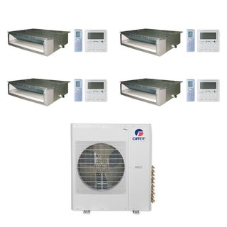 Gree MULTI42CDUCT405-42,000 BTU Multi21+ Quad-Zone Concealed Duct Mini Split A/C Heat Pump 208-230V (9-12-12-12) - A/C & Heater