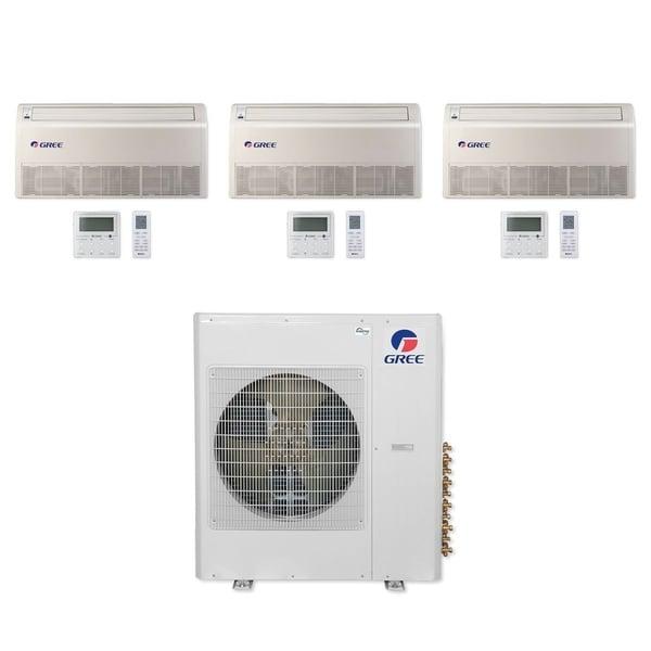 Gree MULTI36CFLR300 - 36,000 BTU Multi21+ Tri-Zone Floor/Ceiling Mini Split A/C Heat Pump 208-230V (9-9-9) - A/C & Heater