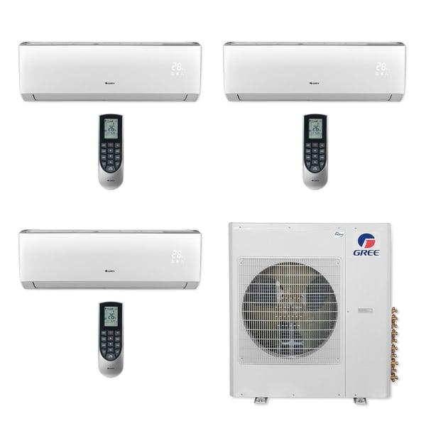 Gree MULTI36CLIV304 - 36,000 BTU Multi21+ Tri-Zone Wall Mount Mini Split A/C Heat Pump 208-230V (9-12-12) (A/C & Heater)