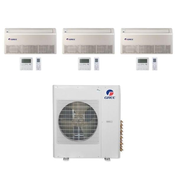 Gree MULTI42CFLR300 - 42,000 BTU Multi21+ Tri-Zone Floor/Ceiling Mini Split A/C Heat Pump 208-230V (9-9-9) - A/C & Heater
