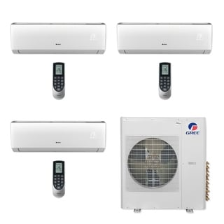 Gree MULTI42CVIR308 - 42,000 BTU Multi21+ Tri-Zone Wall Mount Mini Split A/C Heat Pump 208-230V (12-12-12) - A/C & Heater