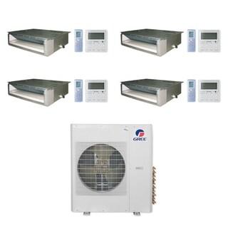 Gree MULTI36CDUCT405-36,000 BTU Multi21+ Quad-Zone Concealed Duct Mini Split A/C Heat Pump 208-230V (9-12-12-12) - A/C & Heater