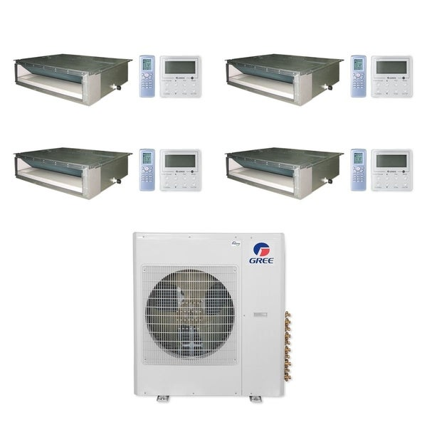 Gree MULTI42CDUCT401 - 42,000 BTU Multi21+ Quad-Zone Concealed Duct Mini Split A/C Heat Pump 208-230V (9-9-9-12) - A/C & Heater