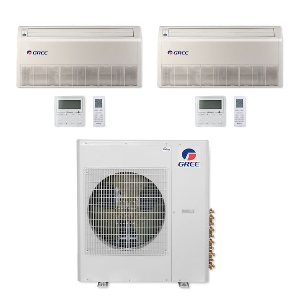Gree MULTI42CFLR208 - 42,000 BTU Multi21+ Dual-Zone Floor/Ceiling Mini Split A/C Heat Pump 208-230V (18-24) - A/C & Heater