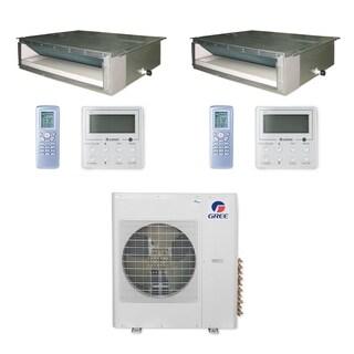 Gree MULTI42CDUCT200 - 42,000 BTU Multi21+ Dual-Zone Concealed Duct Mini Split A/C Heat Pump 208-230V (9-9) - A/C & Heater