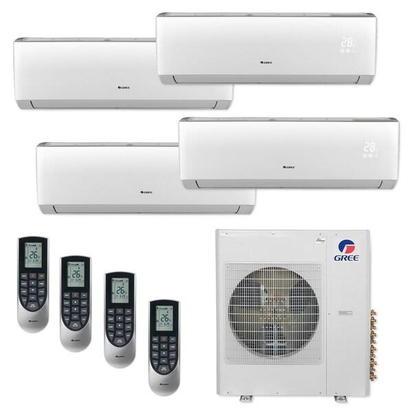Gree MULTI42CLIV407 - 42,000 BTU Multi21+ Quad-Zone Wall Mount Mini Split A/C Heat Pump 208-230V (12-12-12-12) - A/C & Heater