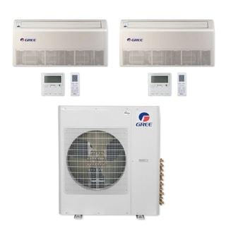 Gree MULTI36CFLR204 - 36,000 BTU Multi21+ Dual-Zone Floor/Ceiling Mini Split A/C Heat Pump 208-230V (12-12) - A/C & Heater