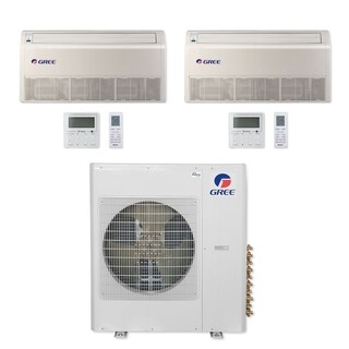 Gree MULTI36CFLR206 - 36,000 BTU Multi21+ Dual-Zone Floor/Ceiling Mini Split A/C Heat Pump 208-230V (12-24) - A/C & Heater