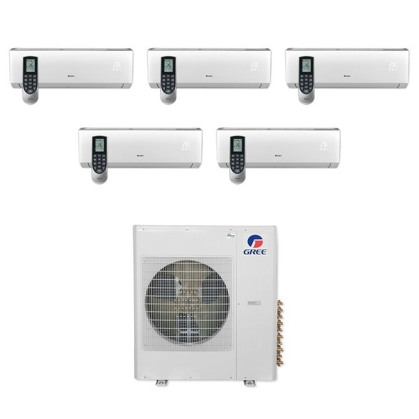Gree MULTI36CVIR500 - 36,000 BTU Multi21+ Penta-Zone Wall Mount Mini Split A/C Heat Pump 208-230V (9-9-9-9-9) - A/C & Heater
