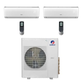 Gree MULTI42CVIR204 - 42,000 BTU Multi21+ Dual-Zone Wall Mount Mini Split A/C Heat Pump 208-230V (12-12) (A/C & Heater)