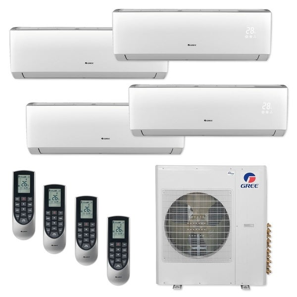 Gree MULTI36CLIV400 - 36,000 BTU Multi21+ Quad-Zone Wall Mount Mini Split A/C Heat Pump 208-230V (9-9-9-9) - A/C & Heater
