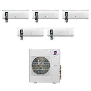 Gree MULTI42CVIR500 - 42,000 BTU Multi21+ Penta-Zone Wall Mount Mini Split A/C Heat Pump 208-230V (9-9-9-9-9) - A/C & Heater
