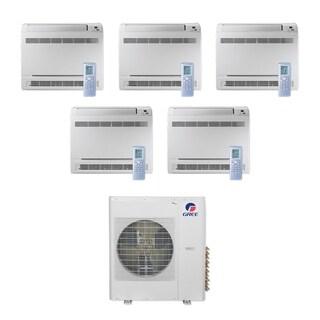 Gree MULTI42CCONS500 -42,000 BTU Multi21+ Penta-Zone Floor Console Mini Split A/C Heat Pump 208-230V (9-9-9-9-9) - A/C & Heater