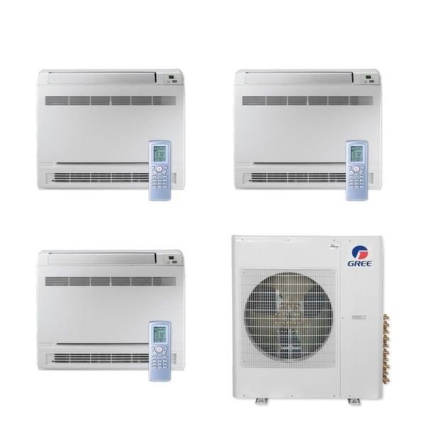 Gree MULTI42CCONS304 - 42,000 BTU Multi21+ Tri-Zone Floor Console Mini Split A/C Heat Pump 208-230V (9-12-12) - A/C & Heater