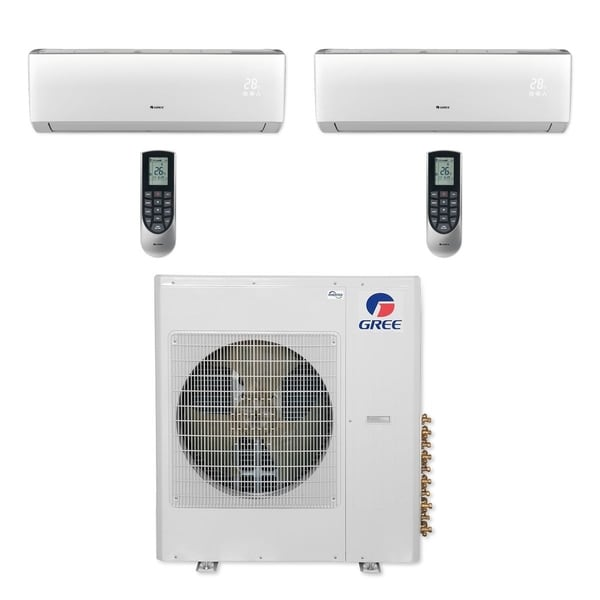 Gree MULTI42CLIV208 - 42,000 BTU Multi21+ Dual-Zone Wall Mount Mini Split A/C Heat Pump 208-230V (18-24) (A/C & Heater)