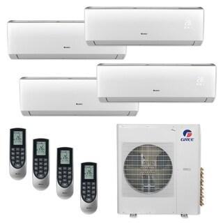 Gree MULTI36CLIV406 - 36,000 BTU Multi21+ Quad-Zone Wall Mount Mini Split A/C Heat Pump 208-230V (12-12-12-12) - A/C & Heater