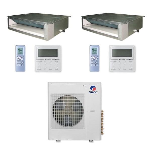 Gree MULTI42CDUCT204 - 42,000 BTU Multi21+ Dual-Zone Concealed Duct Mini Split A/C Heat Pump 208-230V (12-12 - A/C & Heater