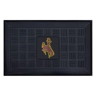 NCAA University of Wyoming Medallion Door Mat 19 in. x 30 in.