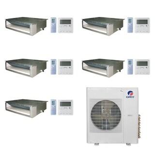 Gree MULTI42CDUCT501-42,000 BTU Multi21+ Penta-Zone Concealed Duct Mini Split A/C Heat Pump 208-230V(9-9-9-9-12) - A/C & Heater